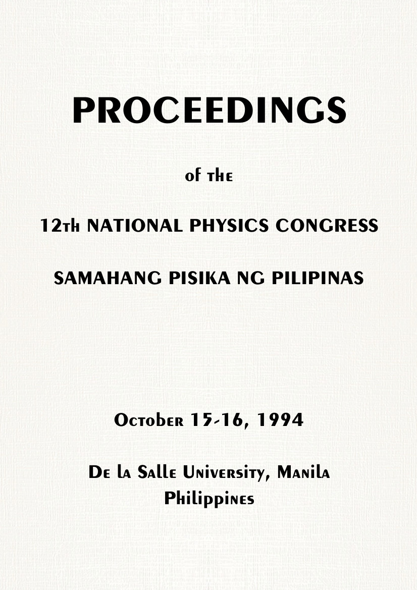 SPP 1994 Proceedings Cover