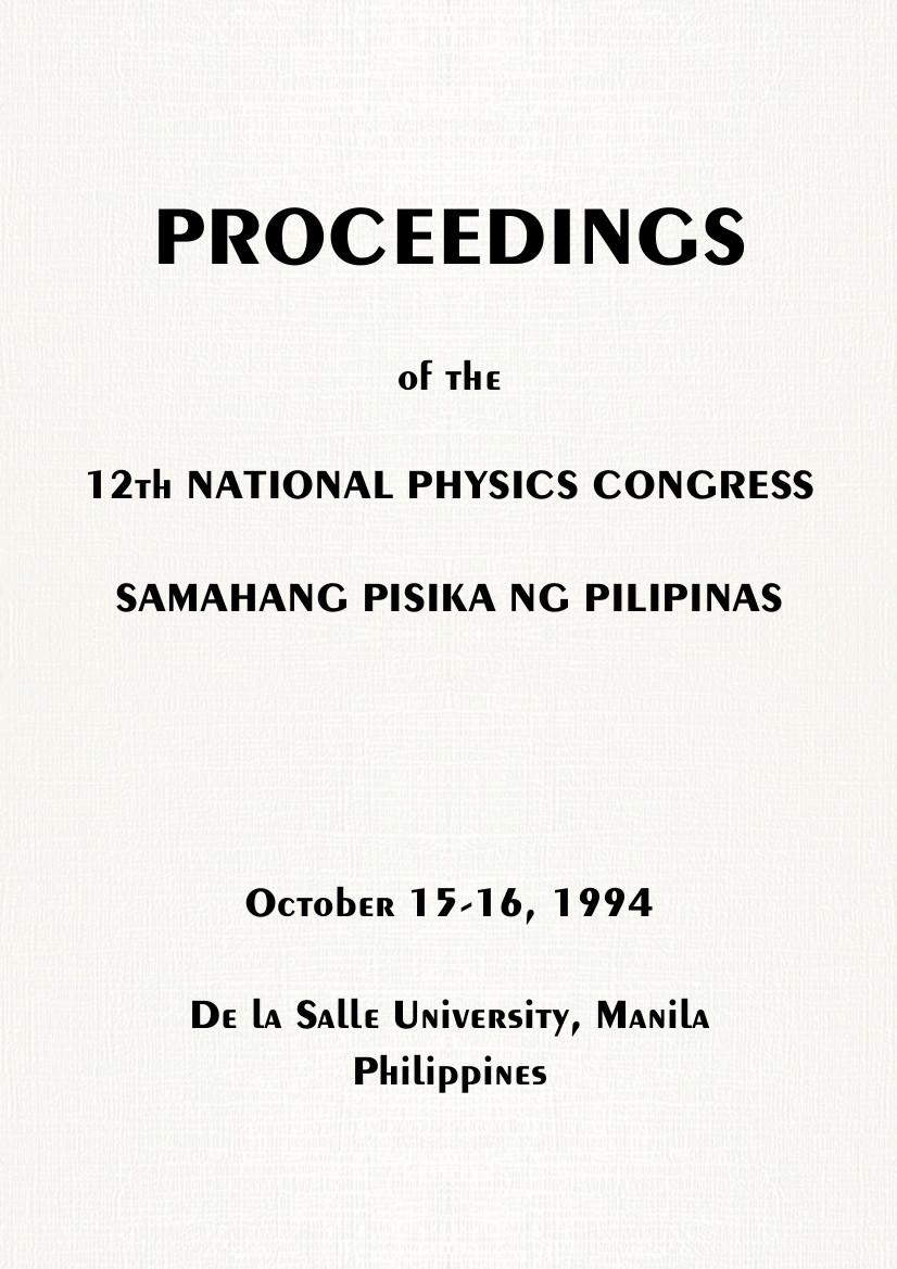 SPP 1994 Proceedings Cover