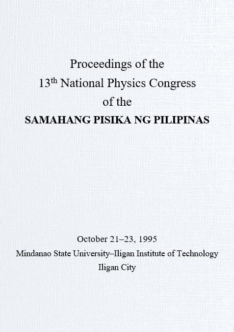 SPP 1995 Proceedings Cover